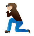 Photographer icon vector image