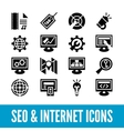 SEO and internet optimization icon set Isolated vector image
