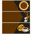 three banners coffee vector image