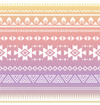 Tribal aztec ombre seamless pattern vector image