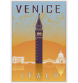 Venice vintage poster vector image