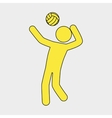 volleyball player design vector image