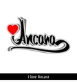 Ancara greetings hand lettering Calligraphy vector image vector image
