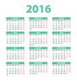2016 Calendar - color design vector image