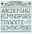 Old school tattoo font vector image