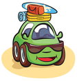 Traveling Car Cartoon vector image