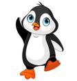 Cartoon baby penguin vector image vector image