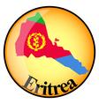 button Eritrea vector image vector image