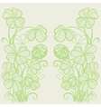 Flowers and clover leaves vector image vector image