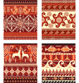 Seamless folk ornament elements texture vector image vector image