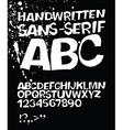 handwritten abc on black vector image