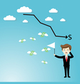 Businessman failure finance vector image
