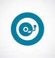dj icon bold blue circle border vector image