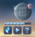 Game UI design elements vector image