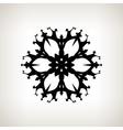 Snowflake Merry Christmas vector image