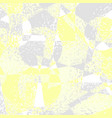 yellow grey grunge geometric background vector image