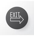 exit sign icon symbol premium quality isolated vector image