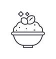 Porridgecereal bowl line icon sign vector image