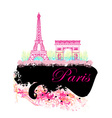 Eiffel tower artistic background vector image