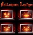 halloween laptop vector image