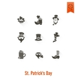 Saint Patricks Day Isolated Icon Set vector image
