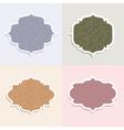polka dot themed labels vector image