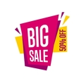 Big sale tag isolated on white background vector image