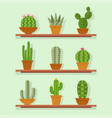 cactus icon in a flat style vector image