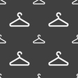 clothes hanger icon sign Seamless pattern on a vector image