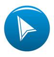 cursor mouse element icon blue vector image