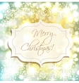 Festive New Year background with blue and yellow vector image