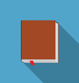 Flat design modern of book icon with long shadow vector image