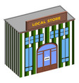 isolated local store vector image