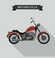 red chopper motorcycle vector image