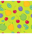 seamless fruit berries pattern vector image