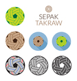 Sepak Takraw or Kick Volleyball Ball vector image