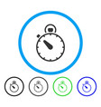 stopwatch rounded icon vector image