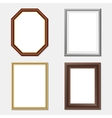 wooden frame set vector image
