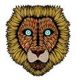 Tiger head zentangle vector image