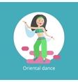 Girl executes oriental dance vector image vector image