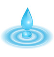 drop falls into the water vector image
