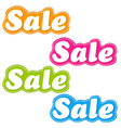 Color Sale Stickers Set vector image vector image