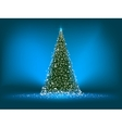 Abstract green christmas tree on blue EPS 8 vector image vector image