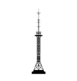 telecommunications tower vector image