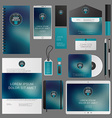 Corporate Identity Template Design with Logotype vector image