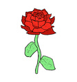 rose comic cartoon vector image vector image
