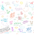 toy doodles pattern vector image vector image