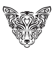 Decorative ornamental cat silhouette vector image vector image