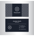 elegant business card template with vector image