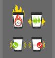 Different smartphone activities vector image vector image
